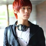 Short Red Korean Hairstyle for Young guys