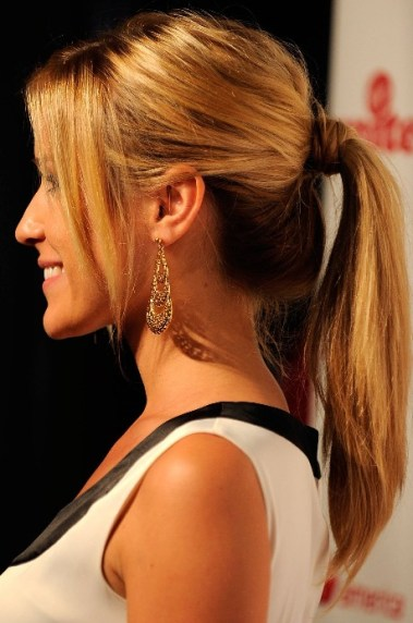 Easy ponytails for long hair