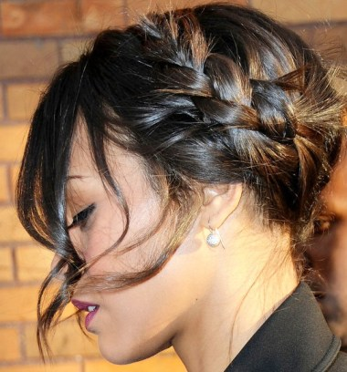 2013 Trendy Braided Hairstyle with Bangs