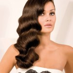 Finger waves hairstyle for long hair