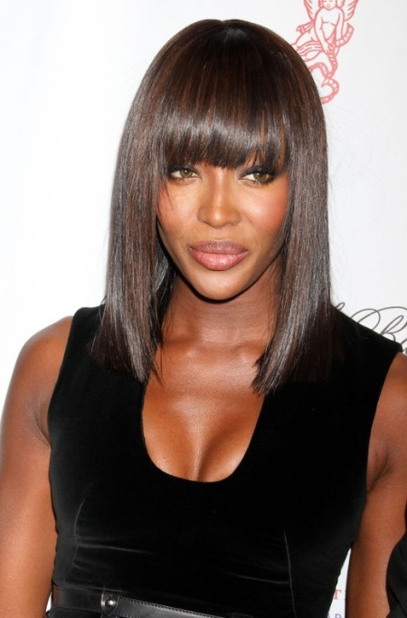 2013 Long Sleek Hairstyle for Black Women