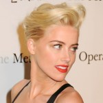 Amber Heard Blonde French Twist Updo for Short Hair