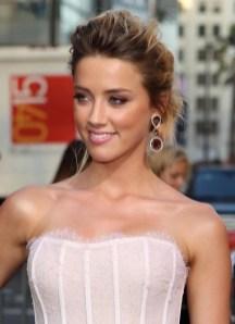 Amber Heard Messy French Twist Updo