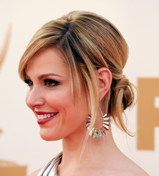 2013 Prom Hairstyles for Long Hair: Beautiful Twisted Sleek Updo Hairstyle for Prom