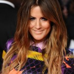 Caroline Flack Long Curly Ombre Hair