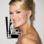 Carrie Underwood Classic Sleek French Twist Updo Hairstyle