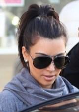 Casual Ponytail Hairstyle from Kim Kardashian