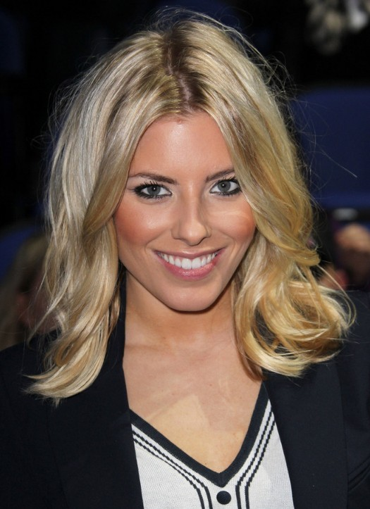 Celebrity Medium Blonde Wavy Hairstyle