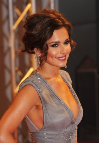 Cheryl Cole Messy Updo for Short Hair 2013