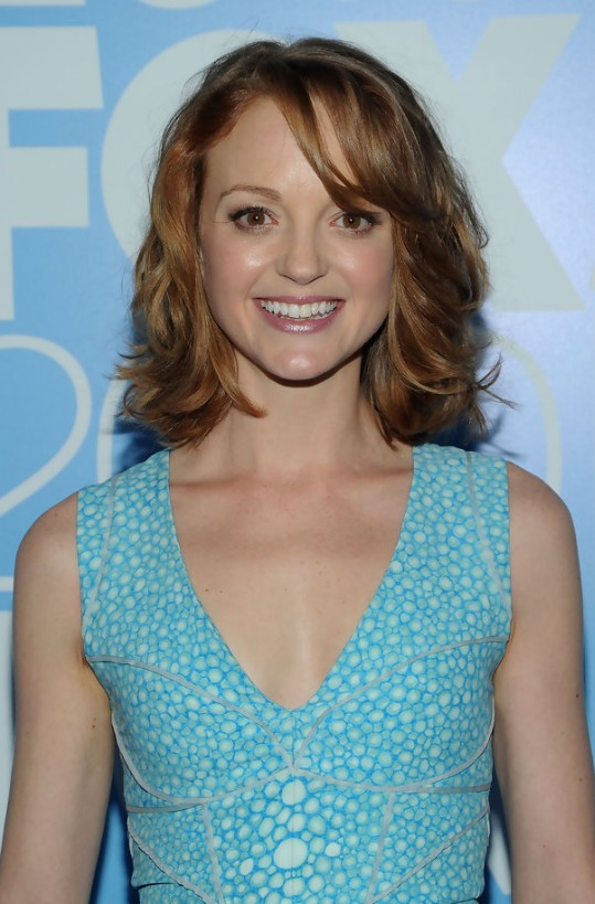 Cute Chin Length Hairstyle from Jayma Mays