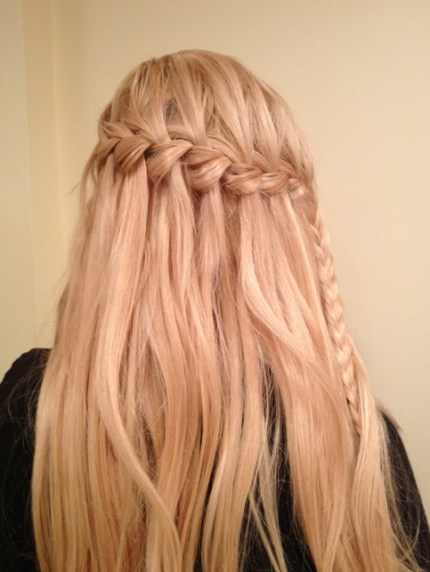Cute Waterfall Braid Hairstyle for Women