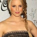Dianna Agron Fishbone Braid - Popular Long Braided Hairstyles 2013