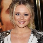 2013 Updo Hairstyles: Emily Atack Messy Updo