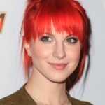 Hayley Williams Red Messy Updo Hairstyle
