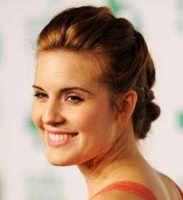Maggie Grace Intricate Braided Updo Hairstyle 2013