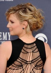 Jennifer Nettles Highlight Curly Messy Updo