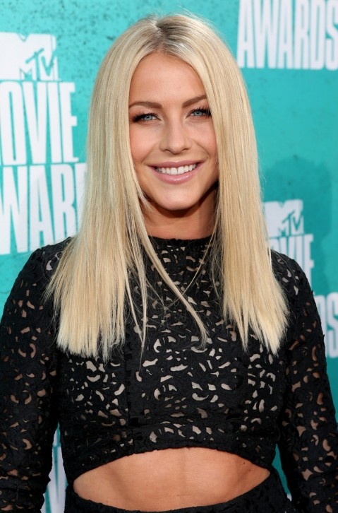 Julianne Hough Long Blonde Straight Hairstyle 2013