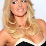 Kate Upton Sexy Long Sleek Blonde Curly Wavy Hairstyle