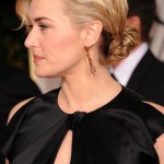 2013 Bun Updo Hairstyles: Kate Winslet Casual Low Loose Bun Updo