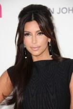 Kim Kardashian Shiny Long Hairstyles