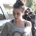 Kim Kardashian Top Knot Hairstyle for Long Hair