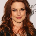 Layered Long Curly Red Hairstyle 2013