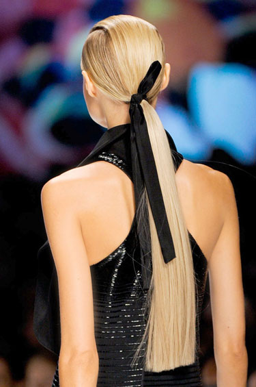 Long Straight Low Ponytail 2013