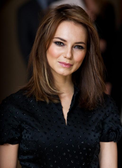 Kara Tointon Medium Hairstyles with Layers