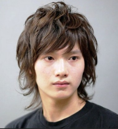 Messy Layered Asian Hairstyle for Men 2013 - 2014