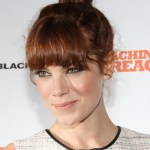 Michelle Monaghan Red Top Knot Hair with Blunt Bangs