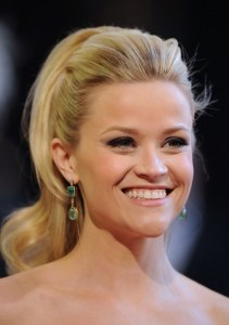 Reese Witherspoon Long Blonde Retro Half Up Half Down Hairstyle