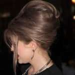 Side view of Bouffant hairstyle