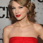 Taylor Swift Sexy Long Wavy Updo For Prom & Wedding