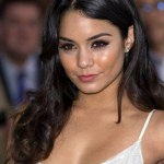 Vanessa Hudgens Long Black Curly Hairstyle 2013