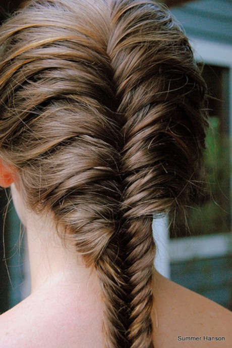 Beautiful French Fishtail Braid for Long Hair