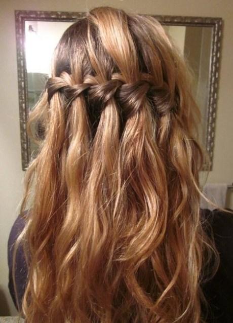 Elegant Waterfall Braid Hairstyles for Curly Hair