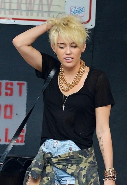 Miley Cyrus Short Haircut 2013