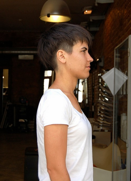 Side view of Trendy Short Haircuts for Women