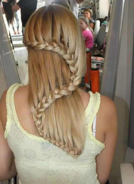 2013 - 2014 Trendy Waterfall Braid Hairstyles for Women