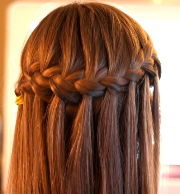 Waterfall Braid Hairstyle - Classic Waterfall Braid for Women