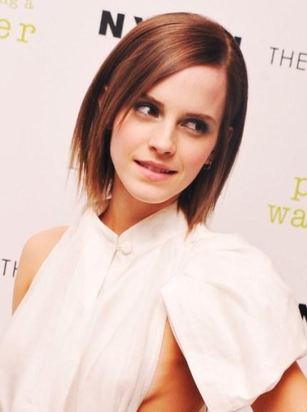 Emma Watson Short Straight Bob Hairstyle