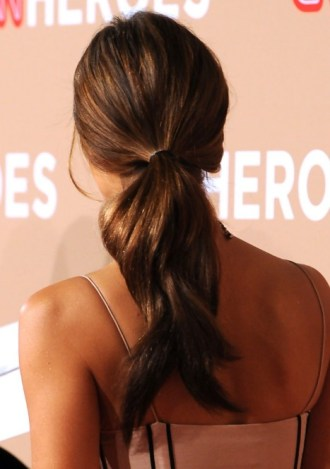 Back View of Jessica Alba Ponytail Hairstyle