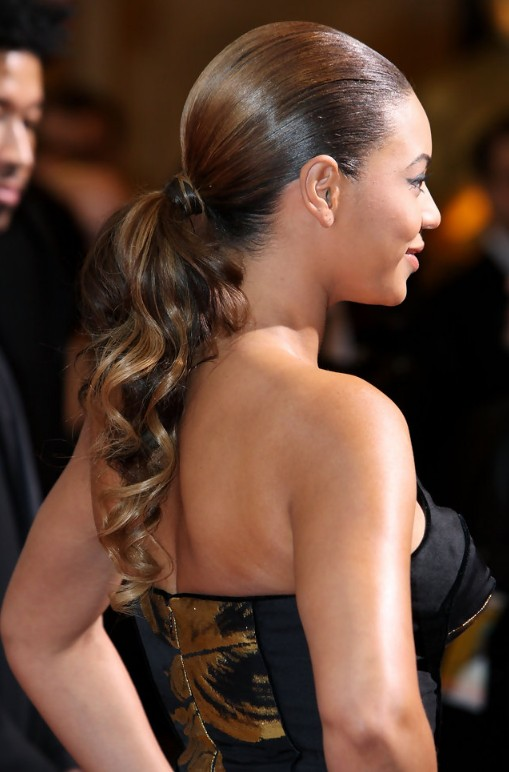 Beyonce Knowles Sleek Curly Ponytail Hairstyles Weekly