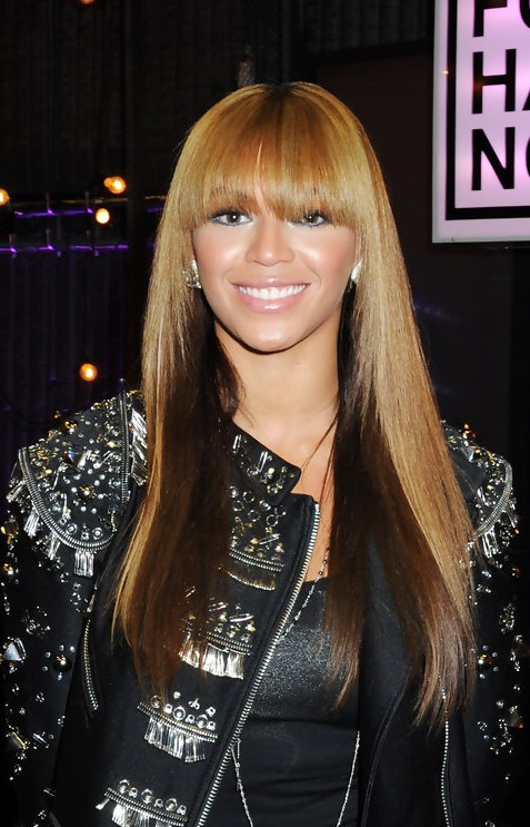 Beyonce Knowles Straight Ombre Hair