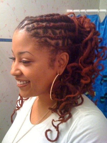 Curly Dreadlocks Hairstyles for Women