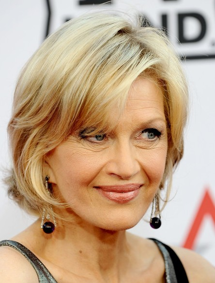 Diane Sawyer Chic Hairstyle with Bangs