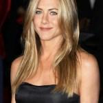 Jennifer Aniston Long Straight Center Part Hairstyle