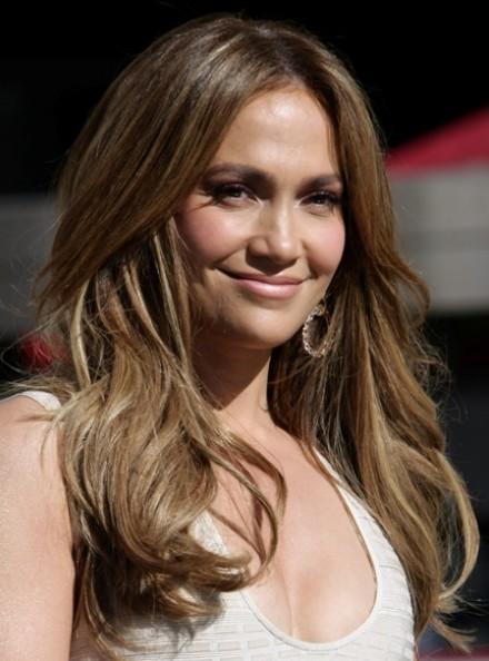 Jennifer Lopez Layered Long Hairstyles