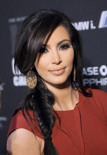 Kim Kardashian Fishtail Braid Hairstyle