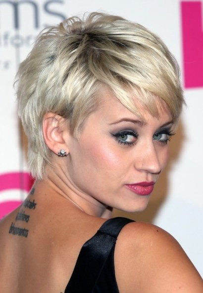 Kimberly Wyatt Short Silver Pixie Hairstyles 2013